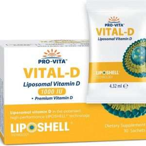 Liposomal Vitamin D - 30 Sachets - Highest Bioavailability - for Healthy Bones, Teeth, Heart & Immune Support, Non-GMO, Gluten-Free, Alcohol-Free, Allergen-Free. No Artificial Preservatives